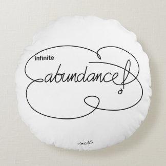 infinite ABUNDANCE - Bold CloudS Round Pillow