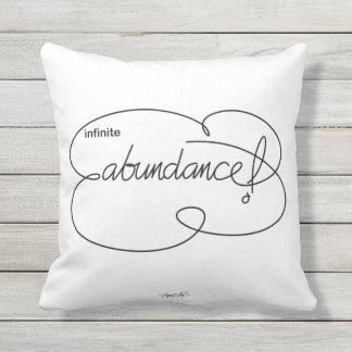 infinite ABUNDANCE - Bold CloudS Throw Pillow