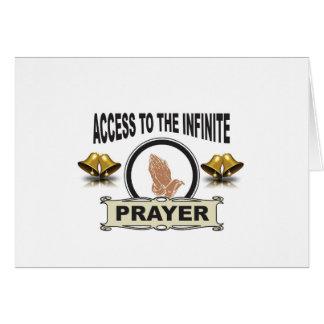 infinite access prayer card