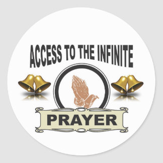 infinite access prayer classic round sticker