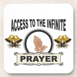 infinite access prayer coaster