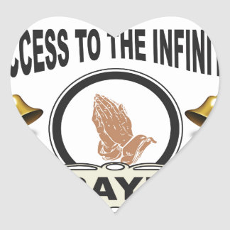 infinite access prayer heart sticker