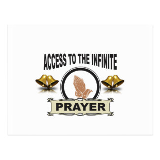 infinite access prayer postcard
