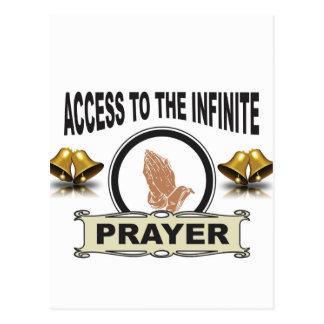 infinite access prayer postcard
