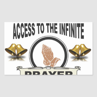 infinite access prayer sticker