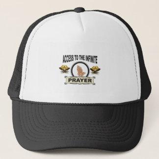 infinite access prayer trucker hat