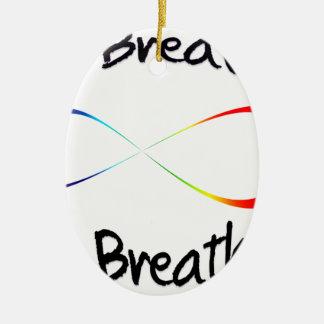 infinite breath ceramic ornament