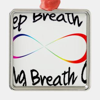 infinite breath metal ornament