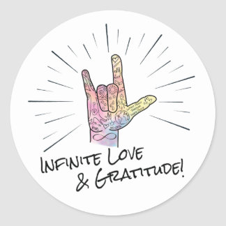 Infinite Love & Gratitude Sticker
