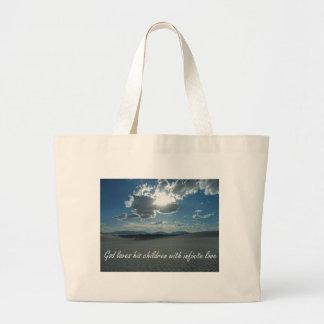Infinite love large tote bag