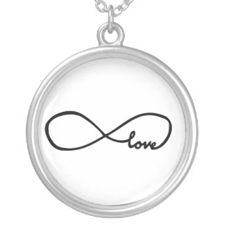 Infinite love silver plated necklace