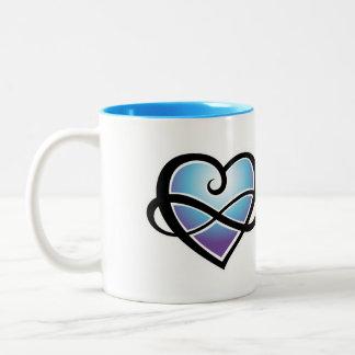 Infinite love Two-Tone coffee mug