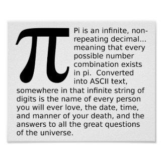 Infinite Pi Answers Funny Poster