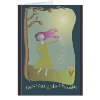Infinite Possibility Blank Greeting Card