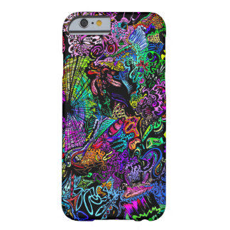 Infinite Psychedelic Rainbow Dimensions Poster Art Barely There iPhone 6 Case