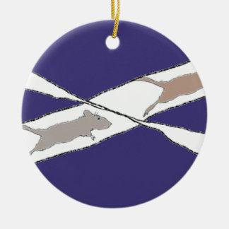 Infinite Rat Race Ceramic Ornament