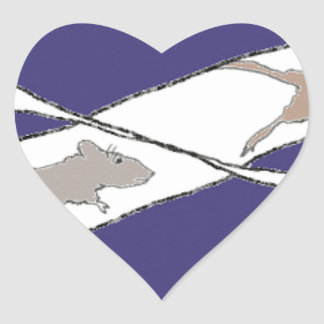 Infinite Rat Race Heart Sticker