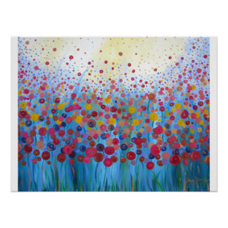 Infinite Romance Floral Abstract Poster