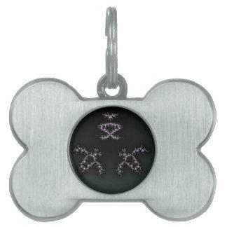 Infinite Turtles Fractal Dark Background Design Pet ID Tag