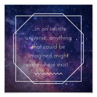 Infinite Universe Positive Affirmation Poster