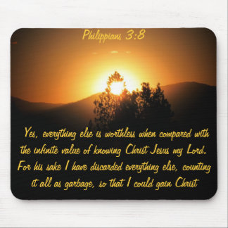 Infinite Value of Knowing Christ Jesus Mouse Pad