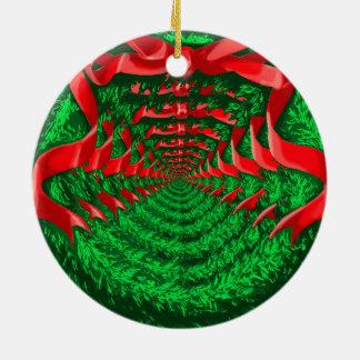 Infinite Wreath Round Ceramic Ornament