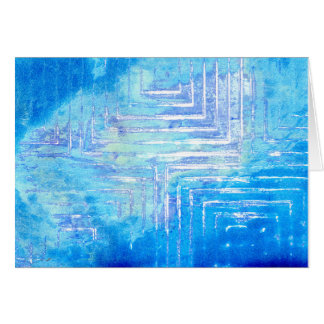 Infinitely Blue Squared Blank Greeting Card