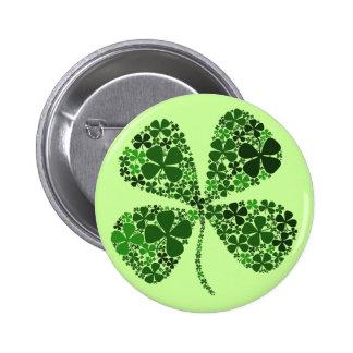 Infinitely Lucky 4-leaf Clover 2 Inch Round Button