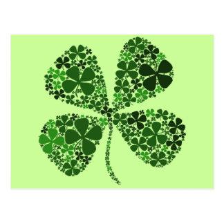 Infinitely Lucky Four-leaf Clover Postcard