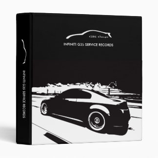 Infiniti G35 Coupe Service Records Binder Folder F