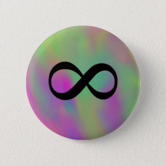 Infinity 2 Inch Round Button