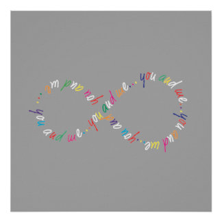 """Infinity 61 x 61(24"""" x 24""""),Poster Paper (Matte) Poster"""