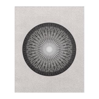Infinity - Abstract circle line art, grays, black Acrylic Wall Art