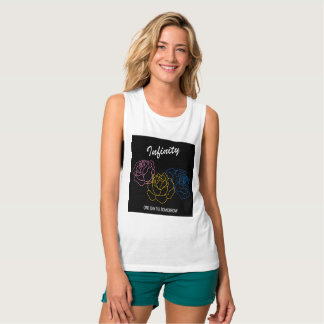 Infinity - Album cover Bella+Canvas Flowy white Tank Top
