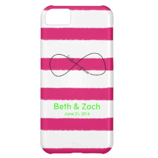 Infinity Bride & Groom Customizable Cover For iPhone 5C