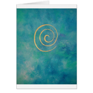 """Infinity - Bright Blue "" Card"