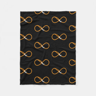 Infinity dog leash fleece blanket