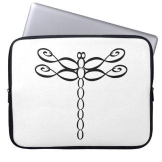 Infinity Dragonfly black Laptop Sleeve