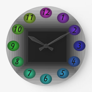 Infinity Floating 3D Colors Design Wall Clock 30r