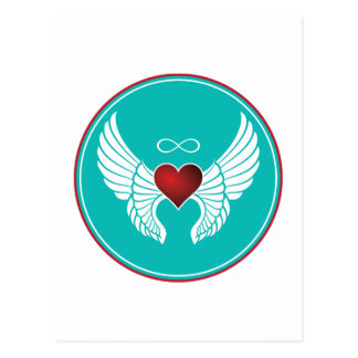 Infinity Flying Heart Postcard