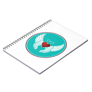 Infinity Flying Heart Spiral Notebook