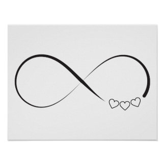 Infinity hearts symbol poster