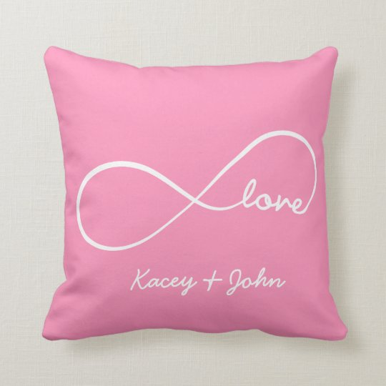 Infinity Love - bubblegum pink Throw Pillow