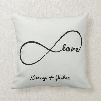 Infinity Love - Off White Throw Pillow