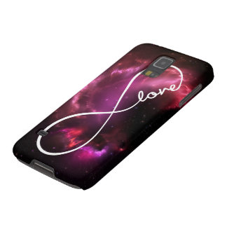 infinity love - pink nebula case for galaxy s5
