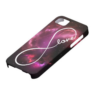 infinity love - pink nebula iPhone 5 covers