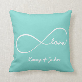 Infinity Love Throw Pillow