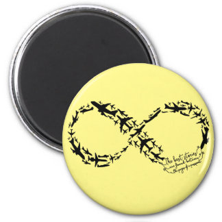 Infinity Magnet, Infinity Office Gifts 2 Inch Round Magnet