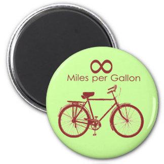 Infinity Miles Per Gallon Bike Magnet