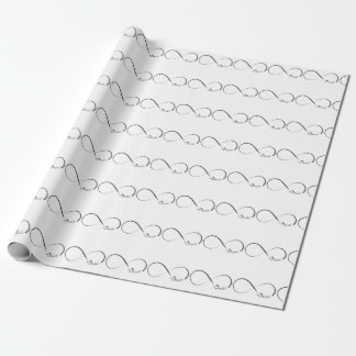 Infinity  music symbol wrapping paper